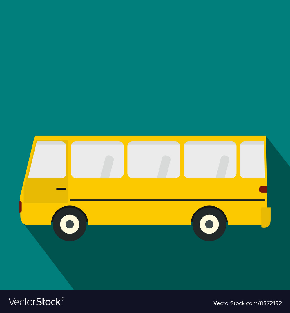 Bus icon in flat style vector