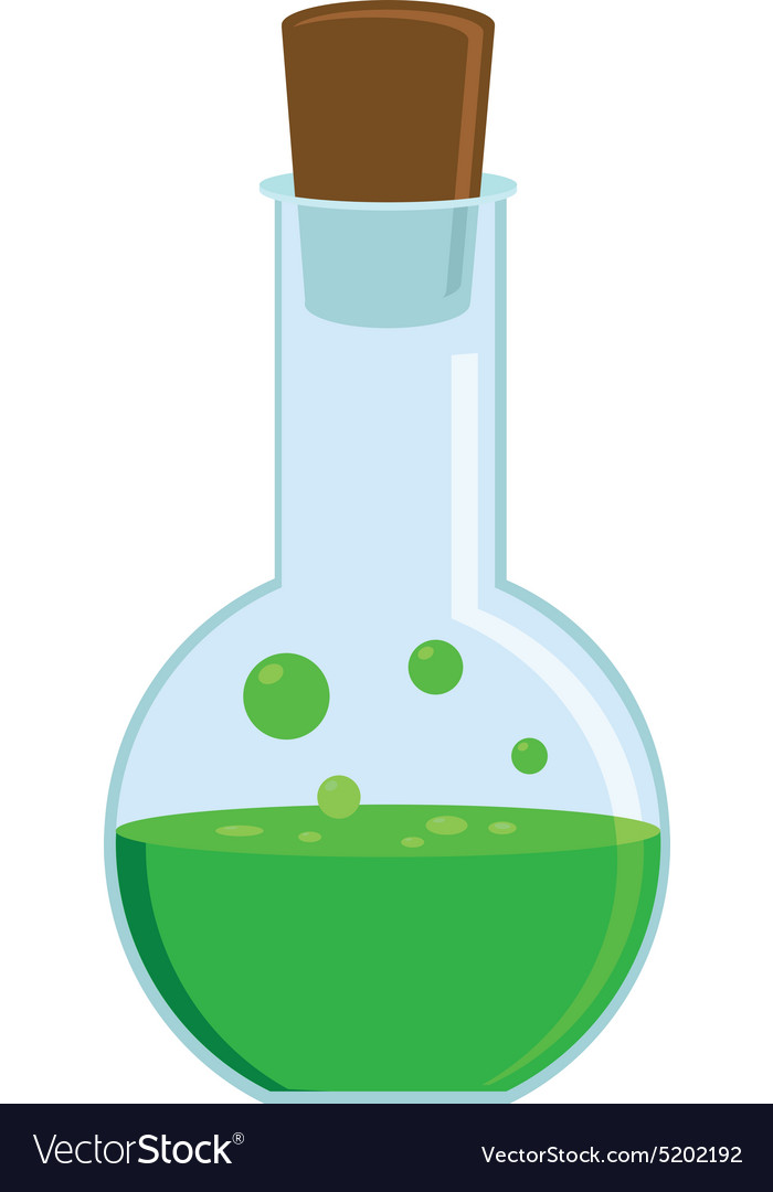 Green potion vector