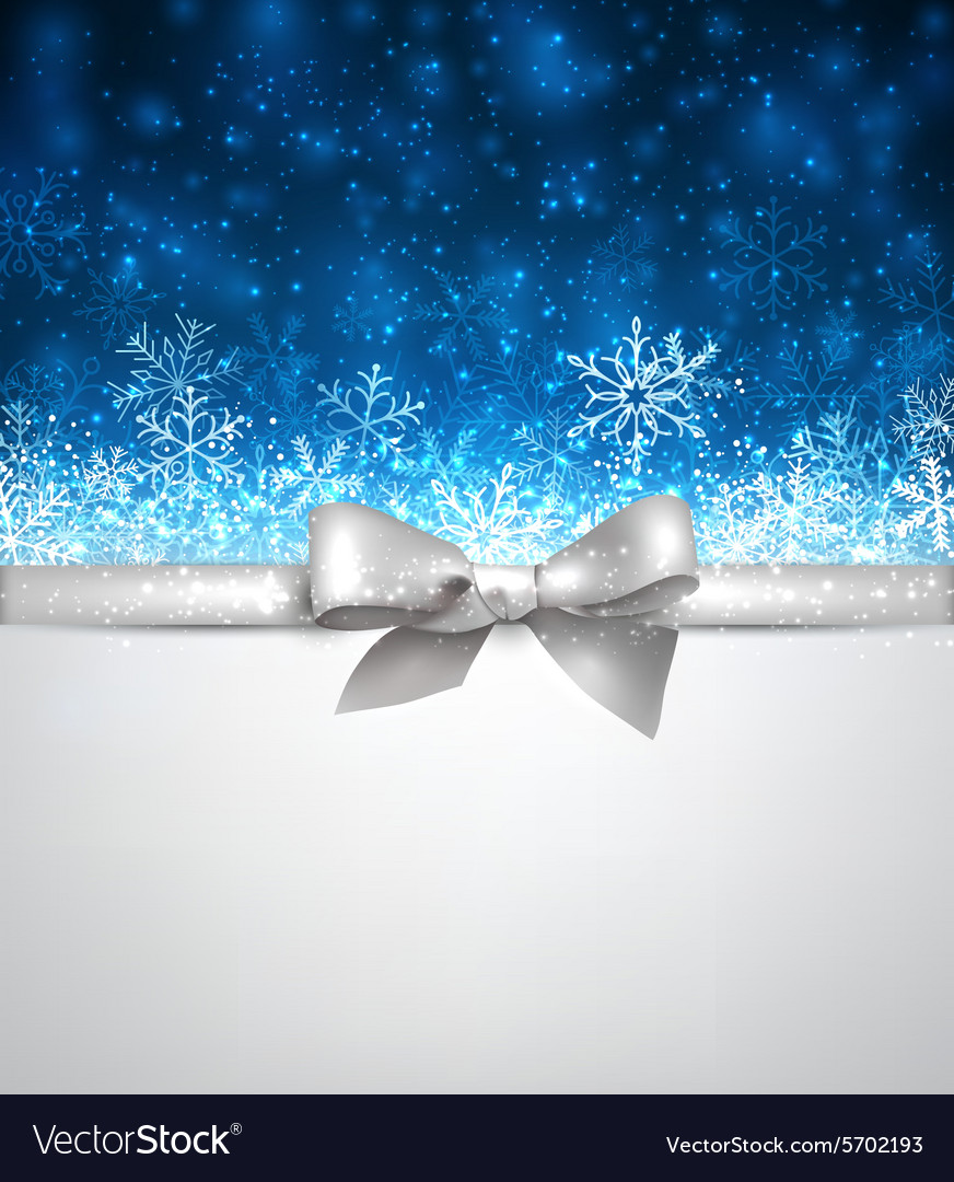 Winter blue christmas background vector