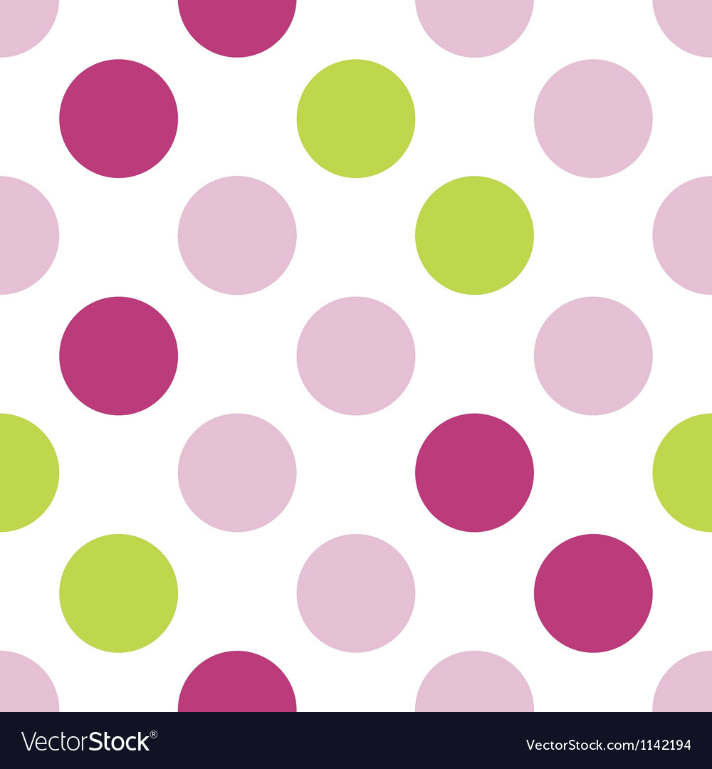 Pink and green girls polka dots vector