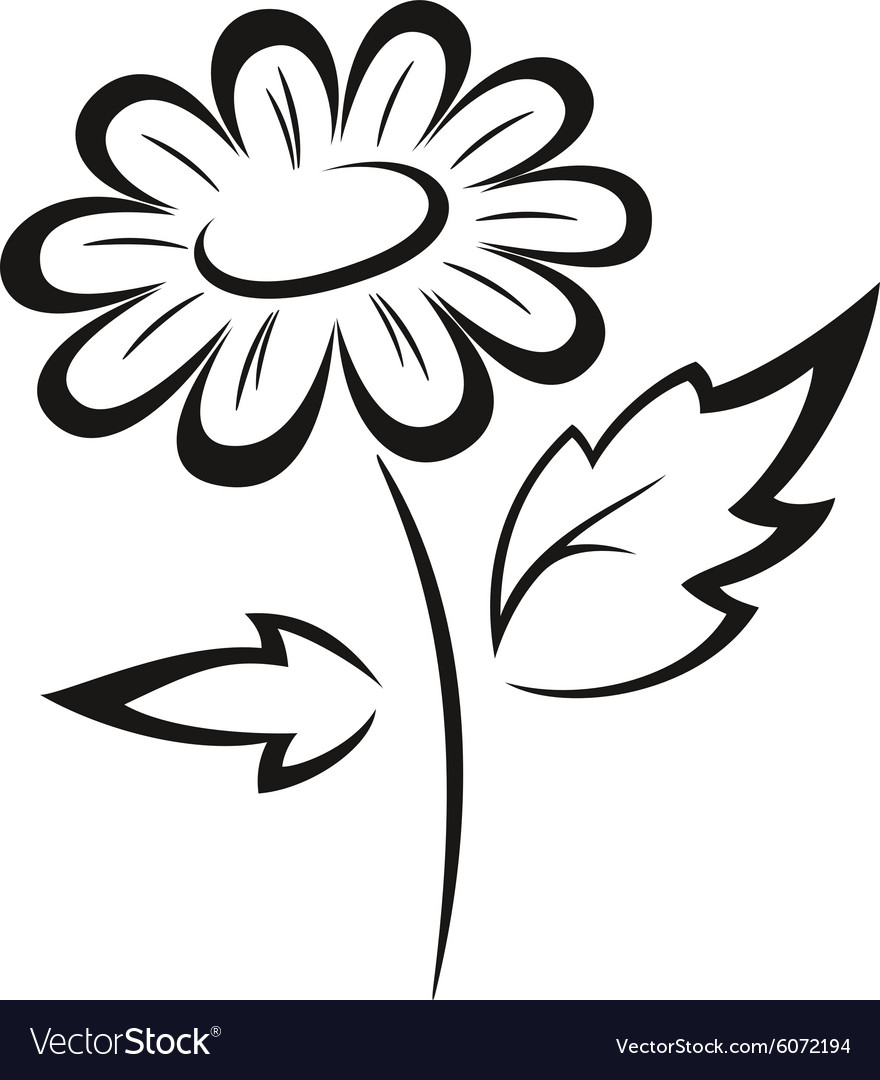 Symbolical flower black pictogram vector