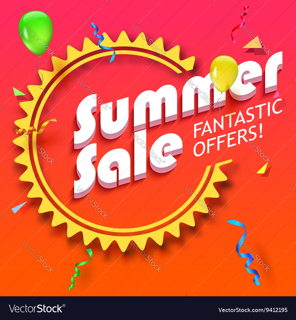 Summer sale advertisement vector