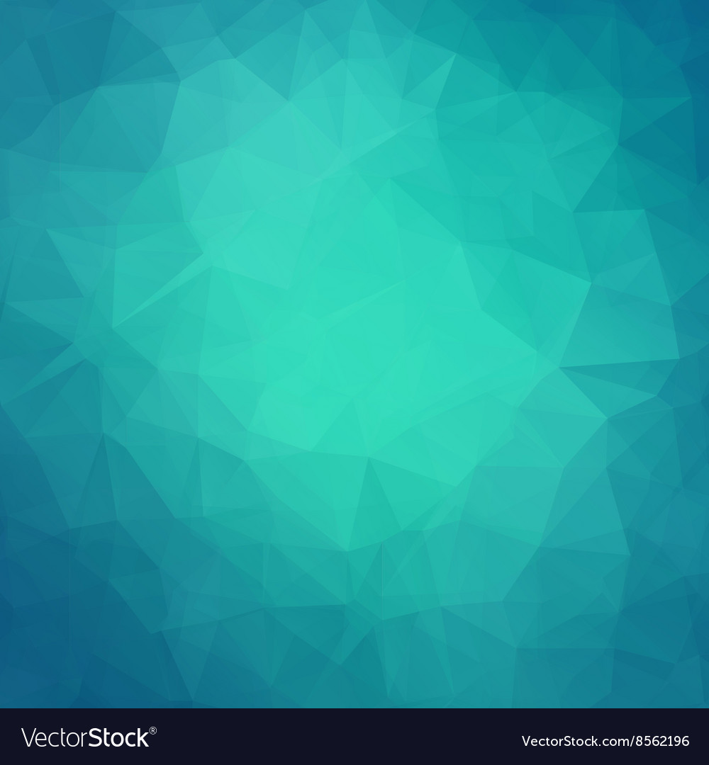 Abstract teal geometric triangle background vector