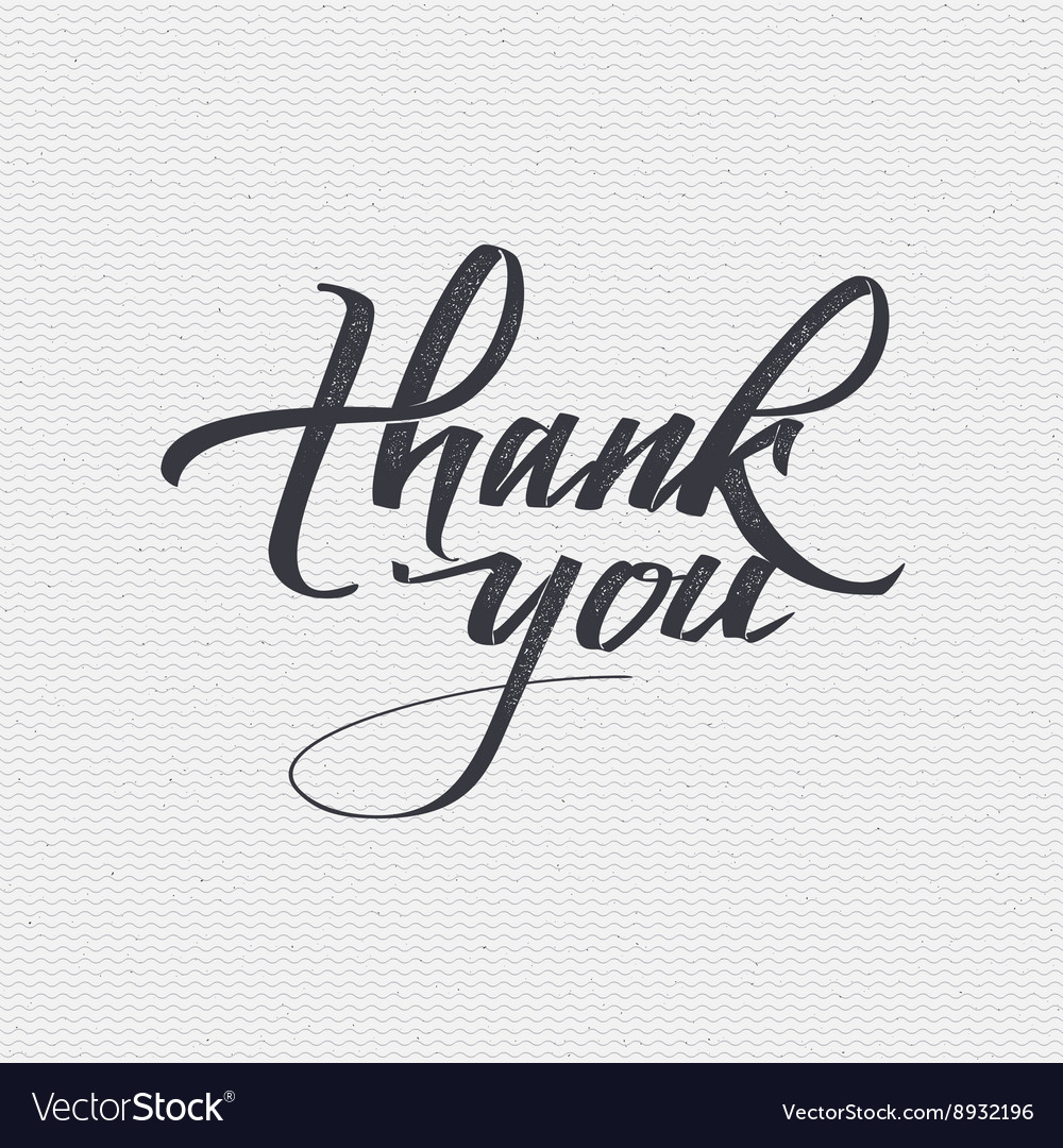 Thank you  card background lettering vector