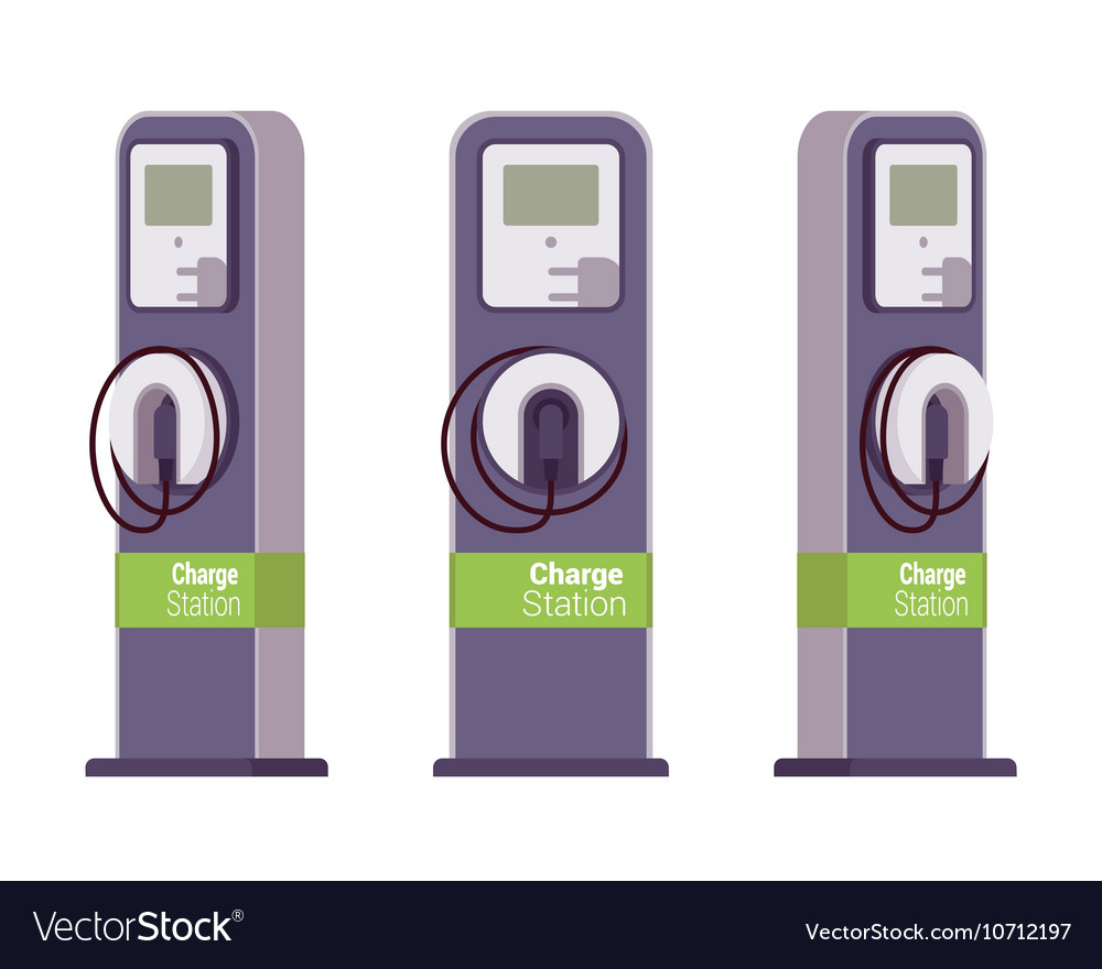 Electric vechle charging station vector