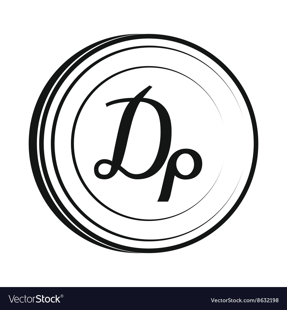 Drachma icon simple style vector
