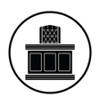 Judge table icon vector image
