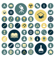 Flat design icons for education science and medica vector image