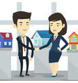 agreement between real estate agent and buyer vector image