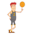 spinning a basketball vector image