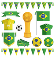 brazil soccer objects vector image