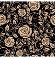 Luxury floral seamless pattern with blooming roses vector image vector image