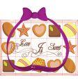 valentine chocolate vector image vector image