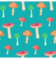 Spring forest russule mushroom seamless pattern vector image