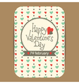 valentine greeting or invitation card vector image