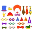 Circus photo booth set vector image vector image