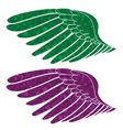 wings made of floral vector image