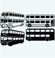 British double-decker bus vector image