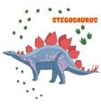 Cartoon dinosaur vector image