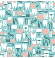 Dental Care Graphics on Blue Background vector image