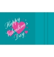 Happy Valentine Day on green backgrounds vector image