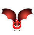 isolated halloween bat vector image