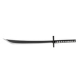 Japanese sword with sharp blade vector image