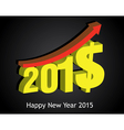 Money growth of 2015 Happy new year vector image