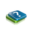 question marks icon vector image