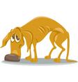 sad homeless dog cartoon vector image