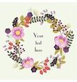 Save the date floral card Vintage wedding vector image