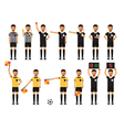 Soccer referee character set vector image