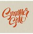 Summer sale grunge label vector image