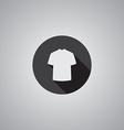 T-shirt symbol flat vector image