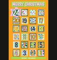 yellow cartoon advent calendar vector image
