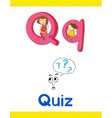 Learning Alphabet Q vector image vector image