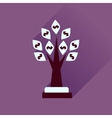 Flat icon with long shadow Money Tree vector image