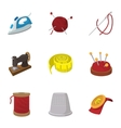 Accessories for sewing workshop icons set vector image vector image