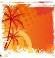 Grunge backgound with palm trees vector image
