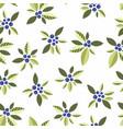 seamless pattern with vegetative elements vector image
