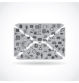 abstract envelope vector image vector image