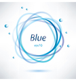 abstract blue frame vector image vector image