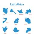 east africa - maps of territories vector image