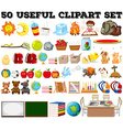 Fifty kind of different objects vector image