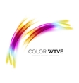 Blurred wave design elements vector image vector image