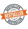 Bestseller round orange grungy vintage isolated vector image
