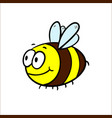 a friendly cute bee flying and vector image