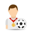 athlete medal soccer ball icon graphic vector image