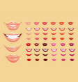 Color lips vector image