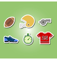 color set with american football icons vector image